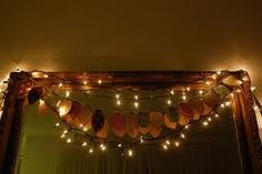 Lights to use in archways, try using leaf garland instead