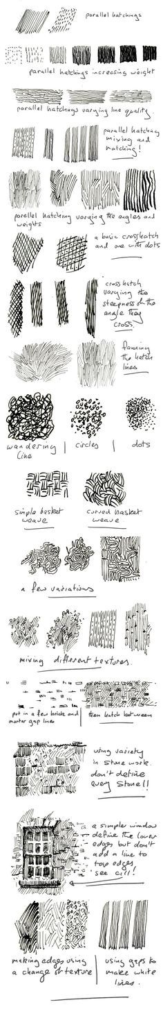 pen and ink, hatching, tutorial: