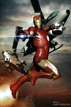 Iron Man concept painting by Adi Granov