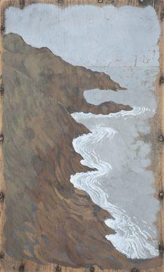 David Cass. Coast 27.5 x 44 cm · Gouache & tube watercolour on box lid Sold Reserve: info@davidcass.co.uk