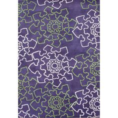 Jazz up your indoor space with this purple wool rug from Alliyah Rugs. Made out of high-quality New Zealand blended wool, this durable rug features a modern geometric pattern in contrasting green and gray, which adds a special touch to any room.