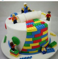 Lego cake. Te mooi om te eten