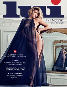 LUI N°1 - octobre 2013 #lui #magazine #Lea #Seydoux (Photo: Mario #Sorrenti)
