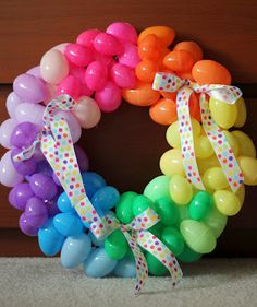 Plastic Easter Egg Wreath.
