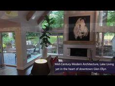 677 Lake Rd, Glen Ellyn, IL 60137 by Linda Weber Coldwell Banker Residen. Glen Ellyn, Coffee Sacks, Mixed Media Artists, Estate Homes, Modern Architecture, Boudoir, Ale, Mid-century Modern, Deck