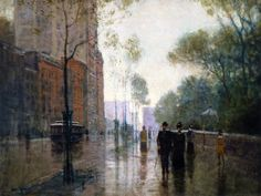Paul Cornoyer (1864–1923), A Rainy Day in New York
