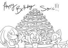 Happy Birthday Sonic!!-9 by E-vay