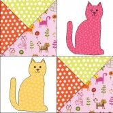 Create this gorgeous GO! Kitty-Kitty Quilt and you'll be the cat's meow .  What a great present for the cat lovers.