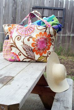 Make a Big Beautiful Beach Bag! – Tutorial | Muse of the Morning Crafty Kits, Wool Felt & PDF Sewing Patterns