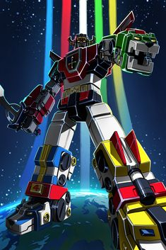 Voltron by William Liu on ArtStation 80s Voltron, Voltron Force, Voltron Poster, Thundercats, Classic Cartoons, Cool Cartoons, Geeky Wallpaper, Science Fiction, Robot Cartoon