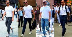 この上なくシンプルな無地の白Tシャツといえばメンズファッションの大定番アイテムだ。今回は白Tシャツにフォーカスして洗練された着こなし&アイテムをピックアップ! 白Tシャツ×ネイビーパンツスタイル ホワイトとネイビーで全体をまとめた統一感のあるスタイリング。ハンドバッグもネイビーで統一することでより洗練された雰囲気に。スニーカーのシュータン部分にもブルーを取り入れている点が洒脱な雰囲気を演出。 SUNSPEL(サンスペル) Q82 PLAIN 詳細・購入はこちら 白Tシャツ×ネイビーパンツ×白スニーカースタイル 定番であり、昨今のトレンドカラーとしても注目を集めているネイビーのパンツを白Tシャツに合わせたスタイリング。コートスニーカーの定番といえばアディダスのスタンスミスだが、あえてアディダス創業者の弟が手がけるPUMAのCourt Starをチョイスすることによってベーシックの中にもさりげない個性を演出。 THE FLAT HEAD(フラットヘッド) Tシャツ 詳細・購入はこちら 白Tシャツ×ドレスパンツ×スニーカー クラシックスタイルが重要視されるピッティにおいても、今...