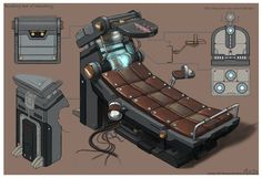 ArtStation - A binding bed of laboratory(2005,Grigon Entertainment), Minho Kim