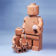 The French designerBaptiste Tavitian, akaBTmanufacture, produces some beautiful wooden LEGO figures, usingthe original design of the famous minifigs. A ni