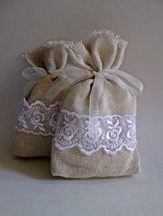 Fall Sale Rustic Favor Bag.20 Rustic by VintageShabbyRustick