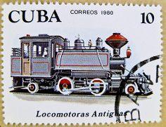 stamp Cuba 10c postage train typ 2-4-2 railway sello francobolli Cuba poste timbre Briefmarken Kuba