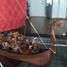 model viking ship