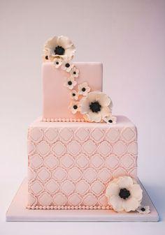 Pink wedding cake - Canada's Prettiest Wedding Cakes For 2016   Weddingbells