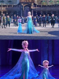 Elsa and her daughter whilst Jack Frost(Elsa's husband and father to her child) is bringing winter where it needs to be Walt Disney, Cute Disney, Disney Magic, Princesa Disney Frozen, Disney Princess Frozen, Disney Princess Drawings, Frozen Movie, Snow Queen, Disney And Dreamworks