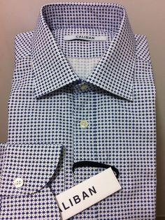 Caliban Italian Sartorial luxury beautiful shirt,  Fit is M/50/40US  NWT$350 #Caliban