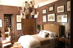NousDecor ('new-de-kor', meaning We Decorate) is an online decor community offering free interior design services and curated shopping Chocolate Brown Bedrooms, Extra Bedroom, Master Bedrooms, Bedroom Wardrobe, Luxury Interior Design, Contemporary Furniture, House Design, House Styles, Bedroom Makeovers