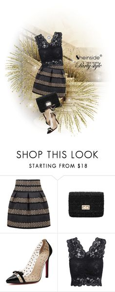 """Black High Waist Skirt/Shein contest with prize"" by elena-indolfi ❤ liked on Polyvore"