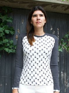 """genevaraglanteenamedclothingsewing20.  Use my Sewing Workshop """"Trio"""" top pattern.  Great way to use up some knit scraps."""