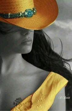 Splash Photography, Color Photography, Color Splash, Color Pop, Splash Art, Splash Images, Sexy Cowgirl, Turbans, Black And White Colour