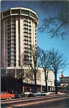 Holiday Inn Raleigh, downtown, c. 1970s. Rooftop restaurant, SKYE Tower Restaurant and Bar. Credit: Randy Bryant
