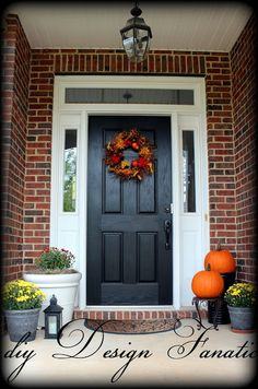 diy Design Fanatic: Fall Front Porch