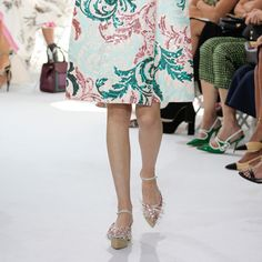 Can't wait to get Delpozo's textured flatforms on our feet