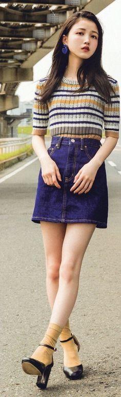 Formal Wear Women, Kawaii Girl, China Fashion, Denim Skirt, Healthy Girls, Personal Style, Cool Outfits, Mini Skirts, Style Inspiration