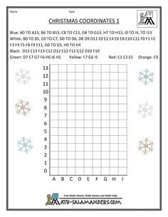Christmas Fun Math Coordinates 1 Christmas Math Christmas Math Activities Math Activities