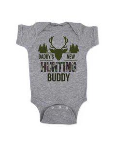 Daddy's New Hunting Buddy - baby onesie one piece bodysuit Baby Shower Gift