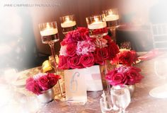 Collection of pink floral arrangements- Northern Greenhouses #wedding
