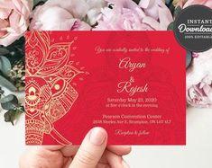 Indian Wedding Invitations, Destination Wedding Invitations, Wedding Invitation Templates, Wedding Planner, Digital Invitations, Printable Invitations, Shower Invitations, Printable Art, Kids Party Themes