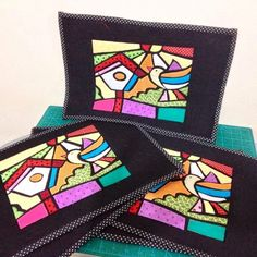 Dinha ateliê patchwork: TÉCNICA VITRAL