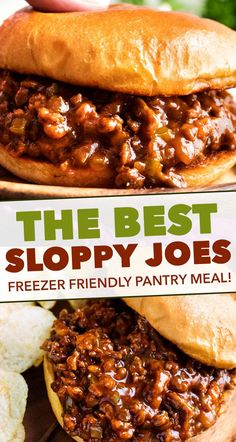 sloppy joe recipe Perfect for quick dinner, these family-favorite homemade sloppy joes are ready in 30 minutes or less! The silky rich sauce is ultra flavorful with a zesty kick! Homemade Sloppy Joes, Sloppy Joes Recipe, Best Sloppy Joe Recipe, Sloppy Joe Recipe Brown Sugar, Healthy Sloppy Joe Recipe, Healthy Sloppy Joes, Beef Dishes, Food Dishes, Meat Recipes