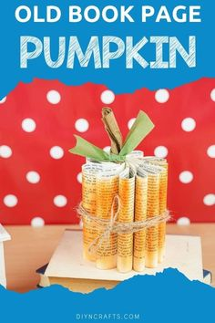 Create this adorable shabby chic book page paper pumpkin decoration in a matter of minutes! This is a great addition to your fall decor! This pumpkin decoration is a great way to use up old books for fun and easy crafts. #PaperPumpkin #OldBookPageCrafts #BookpagePumpkin #PumpkinDecor Pumpkin Ornament, Diy Pumpkin, Pumpkin Crafts, Paper Pumpkin, Paper Plate Crafts For Kids, Book Page Crafts, Acrylic Craft Paint, Glass Pumpkins, Old Book Pages
