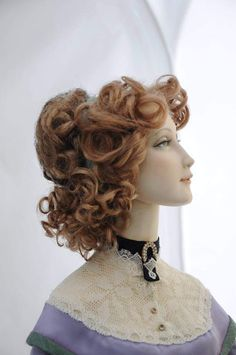 Edwardian Hairstyles, Doll Maker, Art Dolls, Crochet Necklace, Hair Styles, Russian Art, Porcelain, Design Ideas, Drawing