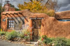 Adobe Blue- Santa Fe New Mexico