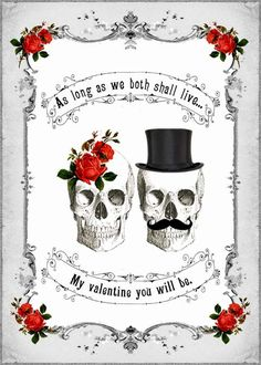 DIY Printable Gothic Victorian Skull Couple by dollfacedesign, $4.99