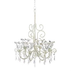 CRYSTAL BLOOMS CANDLE CHANDELIER in Home & Garden, Lamps, Lighting & Ceiling Fans, Chandeliers & Ceiling Fixtures | eBay