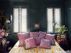 Image result for dark green walls in bedroom