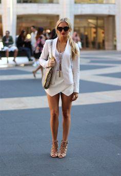 White Zara Shorts