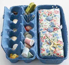 super dicas pra reciclar caixas de ovos...