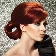 """Paul Mitchell's Holiday Reds """"Garland"""" Color Technique Paul Mitchell, Red Copper Hair Color, Brown Hair Colors, Copper Blonde, Copper Red, Zooey Deschanel, Cherry Brown Hair, Extreme Hair Colors, Cabello Zayn Malik"""