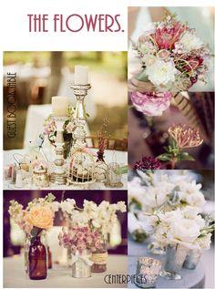 winter wedding florals - more mauve! The Flowers.