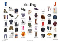 kleding, afkijkplaat Dutch Phrases, Dutch Words, Learn Dutch, Learn German, October Crafts, Vans Top, Dutch Language, All Languages, Yes To The Dress
