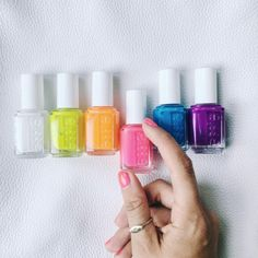 This essie neon collection is so electric, it's 'off the wall'! Which shocking new color is your favorite?!