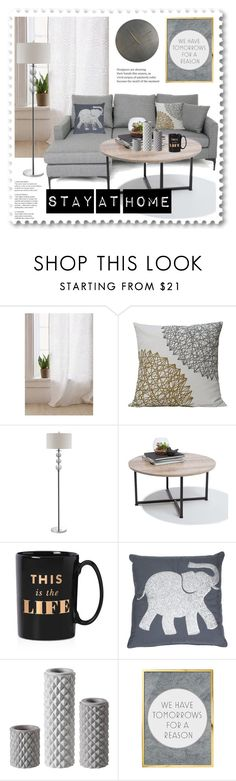"""""""Stay at home"""" by hancicaf ❤ liked on Polyvore featuring interior, interiors, interior design, home, home decor, interior decorating, Urban Outfitters, CB2, Kate Spade and Thro"""